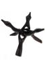 * ~ Kobra Dreifuß - aus Holz - Klangschale Kristallkugel