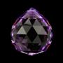 * ~ Regenbogen Kristall Kugel Violett 4 cm - FENG SHUI
