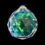 * ~ Regenbogen Kristall Kugel Perlmutt dunkel 4 cm - FENG SHUI
