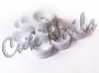 Nail Art Ringe - 12 weisse Ringe