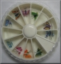 Butterfly | Nail Art Wheel | 12 Fimo Schmetterlinge