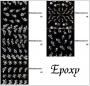 White Epoxy Sticker - mit winzigen Epoxy Pünktchen *
