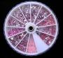 100 Straßsteine - verschiedene Formen * rosa *