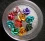 3D Glitter Flowers * Glitter Rosen