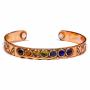 * ~ Armband mit 7 Chakren - Magnetisches Kupfer