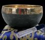 Klang-Schale schwarz/gold - Nepal ca. 300g