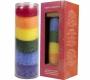 Regenbogen Stearin Kerze, NEUTRAL im Duft