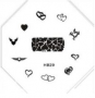 Stamping Schablone | HB Nr. 029 | Herzen