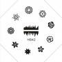 Stamping Schablone | HB Nr. 042 | Blumen