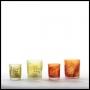 Votivglas | Kerzenhalter * Blätter