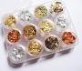12 Dosen Blattgold | Gold Silber Kupfer | Foil | Folie