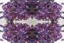 100 Straßsteine Dreieck Triangle violett lila