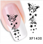 3D BUTTERFLY Sticker ONE STROKE Schmetterlinge 1430