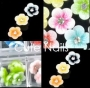 60 3D Rhinestone Flowers | 12 Farben | BOX