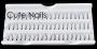 60 Büschelwimpern | Farbe: schwarz | 12 mm