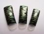 Airbrush Tips - Zebra: silber/grün/schwarz