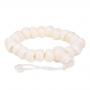 """* ~ Armband natürlich 21 Perlen verstellbar """"Elfenbein"""""""