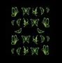 * ~ BUTTERFLY Sticker | Schmetterlinge neongelb / neongrün