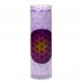 Duft Kerze Blume des Lebens violett im Glas