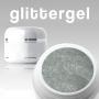 * ~ Farbgel Glittergel EXTREME Silber Glitzer