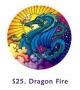 Fensterbild - Drachen-Feuer