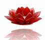 Kerzenhalter Windlicht | Lotus Capiz Rubinrot 1e Chakra