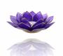 Kerzenhalter Windlicht | Lotus Capiz Indigo 6e Chakra