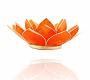 Kerzenhalter Windlicht | Lotus Capiz Orange 2e Chakra