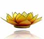 Kerzenhalter Windlicht | Lotus Capiz Orange-Gelb Chakra