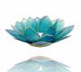 Kerzenhalter Windlicht | Lotus Capiz - Hellblau (Chakra 5)