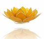 Kerzenhalter Windlicht | Lotus Capiz - gelb (Chakra 3)