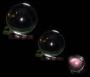 Kristallkugel 6 cm   Glasfuß - FENG SHUI