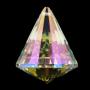 Regenbogen Kristall Kegel Perlmutt - FENG SHUI