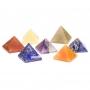 7 Chakrasteine pyramidenförmig SET