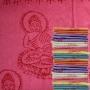 Schal mit Buddha Druck - samtweiche dünne Viskose - rosa