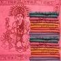 Schal mit Ganesha Druck - samtweiche Baumwolle - rosa