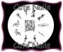 Stampingschablone A12 - Sterne - Blätter - Schnörkel -