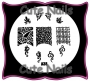 Stampingschablone A38 - Blätter - French - Netze
