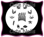 Stampingschablone A37 - Gothic - Helloween
