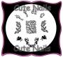 Stampingschablone A25 - Engel - Blumen - Tribals