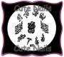 Stampingschablone A27 - Herz - Blumen - Flügel