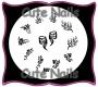 Stampingschablone A07 -  Blumen - Schnörkel