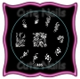 Stampingschablone A05 - Blumen - Ornamente - Herz