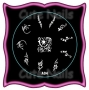 Stampingschablone A04 - Blumen - Tribals