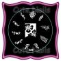 Stampingschablone A19 - Tribals - French - Blumen