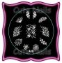 Stampingschablone A30 - Schneeflocke - Crackle - Retro