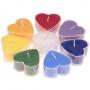 * ~  Herzförmige Duftkerzen 8 Teelichter 7 Chakren + 1 Zeder