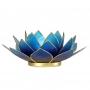 * ~  Kerzenhalter Windlicht | Lotus Capiz violett / blau BLUME