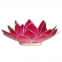 * ~  Kerzenhalter Windlicht | Lotus Capiz rosa pink BLUME Silber