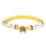 * ~     * Armband Citrin / Bergkristall mit Buddha